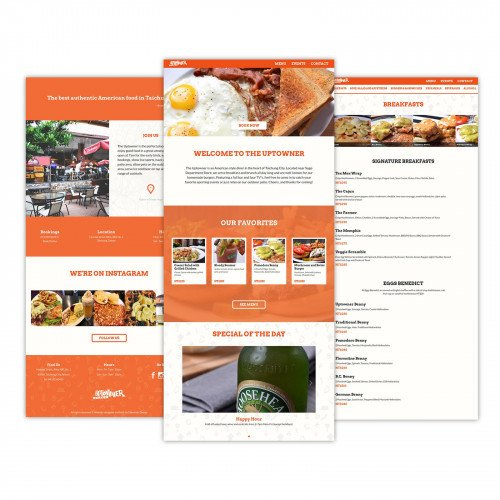 We got hungry designing this Taichung American Diner website